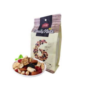 healthy mixed nuts with dried fruits