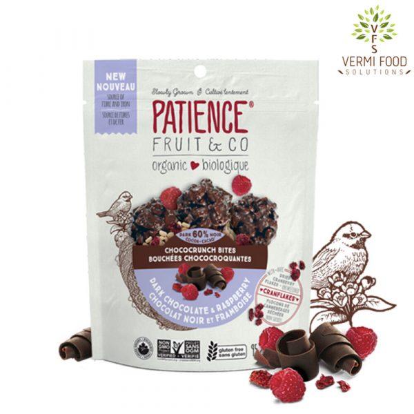 Patience Organic Chococrunch Bites Dark Chocolate & Raspberry