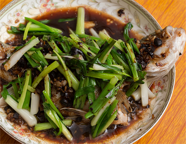 Steamed Fish with Chilli Bean Sauce